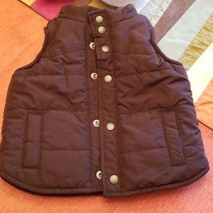 Baby Gap Brown Puffer Vest